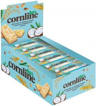 Батончик Cornline из цельных злаков с кокосом и воздушным рисом 30 гр. КДВ