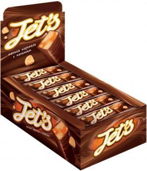 Конфета Jet's с печеньем, 42 гр. КДВ